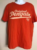 Original Penguin By Munsingwear Men Size L Orange T-shirt Short Sleeve