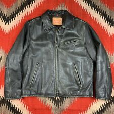Levis Leather Motorcycle Jacket Size Large Rare Worn In