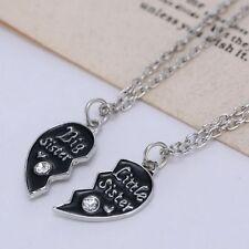 Best Friends Jewelry Broken Heart Pendant Necklace Big Sister Little Sister