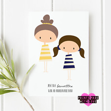 Friendship birthday CARD Best Friends unique  Not available on the high street
