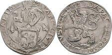Löwentaler 1652 Niederlande Zwolle, Löwe, Silber, Ritter #Alb.2058