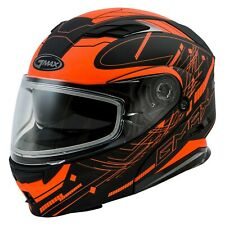 GAMMA GMAX FULL FACE MODULAR HELMET ORANGE XXL DOUBLE ELECTRIC SHIELD NEW $399.