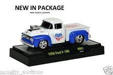 M04 31500 MN02 M2 MACHINES AUTO TRUCKS 1956 FORD F 100 MOON PIE WHITE 1:64 PICK