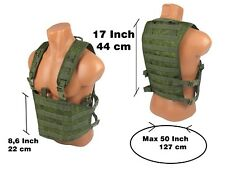 Modular molle pals paintball vest airsoft chest rig emr pixel pouch green od