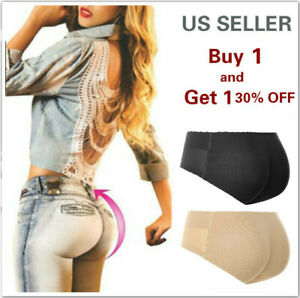 Vollence Full Silicone Panty Buttock Hips Body Shaper Enhancer Padded Push Up Panty Medium