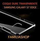 Custodia cover cristallo dura rigido trasparente samsung galaxy S7 EDGE