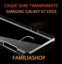 Housse étui coque cristal dure rigide transparent samsung galaxy S7 EDGE