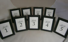 Wedding Table Number Lot 9 1-9 Black Frame With Glass New