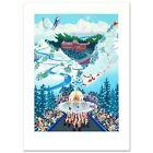 "Melanie Taylor Kent  ""Let the Winter Games Begin"" Serigraph Signed  COA Olympics"