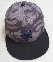 Zoo York Gray Black Blue Adult Baseball Hat Snap Back Polyester Camouflage Men's