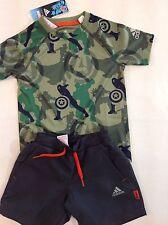 Abbigliamento Sportivo Bambino adidas T.shirt con Pantalone Corto Aj4078 4-5 anni