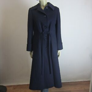 AQUASCUTUM Pure CASHMERE Coat sz 8 10 Made In England Warm- 5 Items = Free Post