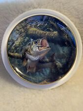 Crankbait Crazy Bass Beauties Danbury Mint Collector Plate
