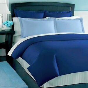 New Charter Club Damask Solid 500T SAPPHIRE (Blue) Full/Queen Duvet Cover