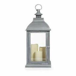 ELAMBIA Laterne rotierendes Licht outdoorgeeignet Timer, Höhe ca. 61cm