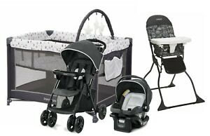 Graco Baby Stroller with Car Seat Travel System High Chair Playard Boy Combo