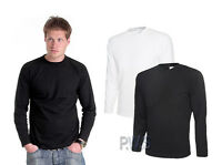 Uneek Long Sleeve T-Shirt 100% Cotton Mens Work Wear Tee Shirt (UC314)