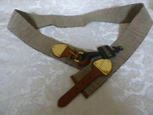 $58.00 Lauren Ralph Lauren Wide Stretch Belt, Tan