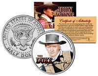 JOHN WAYNE - THE DUKE * Red River * JFK Kennedy Half Dollar US Coin * LICENSED *