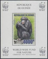 Guinea Mi.Nr. Block 925A Naturschutz, Schimpanse, postfrisch