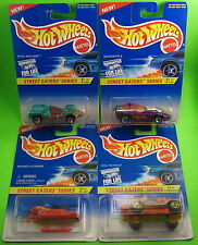 4 Hot Wheels Street Eaters 1996 Chopper Roll Patrol Silhouette II Speed Machine
