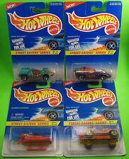 4 Hot Wheels Street Eaters 1996 Chopper Roll Patrol Silhouette II Speed Machine