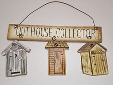 pRiMiTiVe Rustic Country Bath home Decor OUTHOUSE COLLECTOR