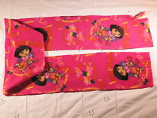 Dora and Boots  on Dark Pink We Did It Fleece Scarf