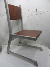 Vintage Hand Made European Style Cantilever Aluminum & Wood Chair