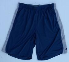 Adidas Basketball Athletic Training Shorts Draw String 2 Pocket Blue Gray Large
