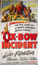 THE OX-BOW INCIDENT Wellman Western Rope Lynchage Fonda Tooker Litho Aff 1943