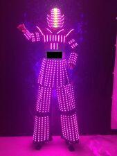FEMALE LED ROBOT COSTUME ROBOTS SUIT DJ TRAJE PARTY SHOW GLOW