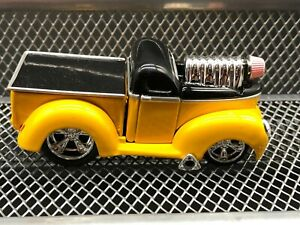 MUSCLE MACHINES WILLY'S PICK UP TRUCK--YELLOW AND BLACK