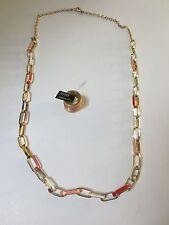 Banana Republic Enamel link Layer Necklace NWOT $59 Enamel Stack Ring 7 NWT $39