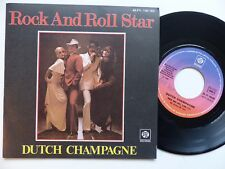 DUTCH CHAMPAGNE Rock n roll star 45 PY 140182 Pressage France RRR