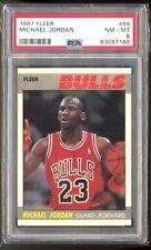 1987 Fleer Basketball #59 Michael Jordan psa 8 Nm-Mt  HOF 2nd Year 🐐🐐