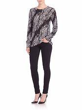 a8cf34168848 NEW Equipment Sloane Zebra-print Cashmere Sweater- black,white Size M $268
