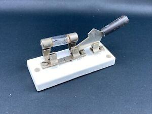 Alter Messerschalter Trennschalter Hebelschalter Schalter Porzellan Rfz. 13