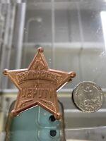 Vintage 1950's Roy Rogers Childrens Cub Deputy Star Metal Badge Pinback NOS