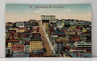 San Francisco California Street Hill, Postcard G9