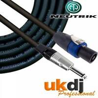"15m SpeakON® - 1/4"" Neutrik Jack 6.35mm To Speakon Passive Speaker Cable PA OFC"