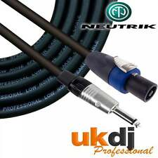 "10m SpeakON® - 1/4"" Neutrik Jack 6.35mm To Speakon Passive Speaker Cable PA OFC"