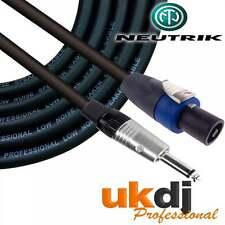 "10m SpeakON® - 1/4"" Neutrik Jack 6.35mm To Speakon Passive Speaker Cable PA OFC"