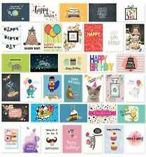 Cavepop Happy Birthday Cards Assortment - 36 Assortment[Hcs-Athbcd-Wt]