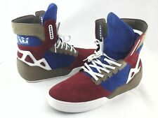SUPRA AOKI Sneakers Suede Red/Blue/White/Tan Shoes Mens US 9 EU 42.5 SOLD OUT