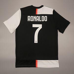 NWOT Ronaldo Juventus Home 2019 2020 Football Soccer Shirt Jersey Adidas Kit