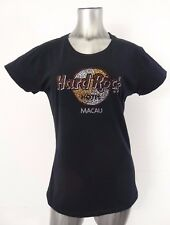 Hard Rock Hotel Macau women's rhinestone t-shirt black L