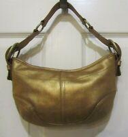 CASUAL CORNER Vintage Shimmery Gold Leather Handbag Purse GR8 Condition
