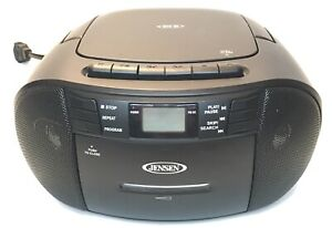 Jensen Boombox CD-545 Stereo CD Cassette Recorder With AM-FM Radio TESTED EUC