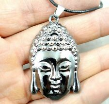Fashion Retro ANTIQUE SILVER Gautam Sakyamuni Amitabha Buddha Pendant & necklace